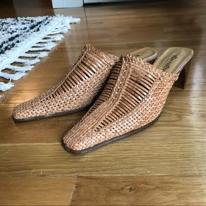 Shoes - Adorable vintage woven mules - perfect for summer!